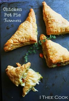 Chicken Pot Pie Turnovers by I Thee Cook