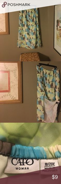 SUMMER SKIRT FROM CATO WOMAN KEEP COOL IN THIS FLORAL PRINT SKIRT SIZE 18/20 W CATO WOMAN Skirts Maxi