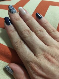 Jamberry Fractal, Mad Mod and White Tip wraps paired with Beta Trushine gel.