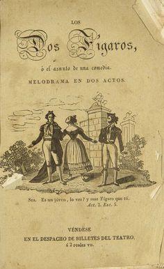 Los dos Fígaros ó El asunto de una comedia  [Texto impreso] :  melodrama en dos actos = I due Figaro, ossia Il soggetto di una comedia : melodrama in due atti
