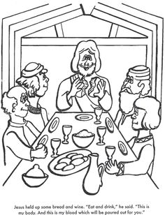 coloring pages last supper   THE LAST SUPPER!!! on Pinterest   Bible Coloring Pages ...