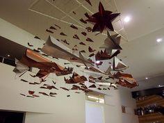 Fleet of paper planes