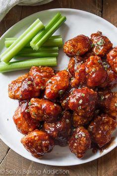 Baked Honey Bbq Popcorn Chicken – Nom Nom Network