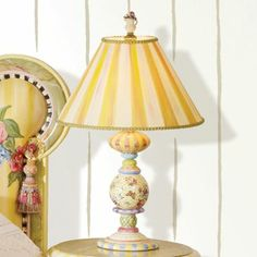 Buy Classic decor for the Bedroom you love! Home portfolio of MacKenzie-Childs Table Lamps ideas! Buy Furniture You Love! Yellow Cottage, Fun Decor, Mackenzie Childs Inspired, Lamp, Wholesale Furniture, Cottage Decor, Painting Lamps, Decorating Details, Furniture Layout