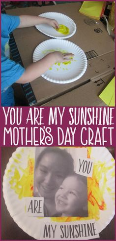 In need of a sweet yet meaningful idea for a homemade Mother's Day gift? Take a peek at this easy paper plate craft inspired by the song You Are My Sunshine.