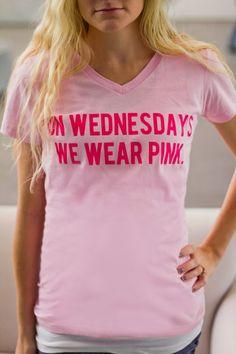 : On Wednesdays We Wear Pink T shirt