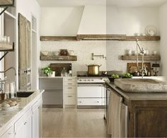 I totally love this kitchen...