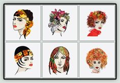 Classy Ladies - Portraits  & Classy Ladies Sketches Purchase Both Sets at One Great Price: High Fashion for those who love Haute Couture. Tropical Paradise for those going on a cruise. Sweet Vixen for the romantics. Retro Modern for the modern ladies who have to be just a little bit Retro. Protect the Environment (she has leaves in her hair) for the Environmentalists and the Steampunk Lady for the young at heart  These names are available for Download on our #FREE Download page (see links…
