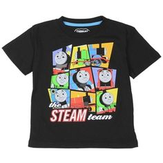 Thomas The Tank Engine The Steam Team Graphic T Shirt Featuring The Engines Of Sodor      Sizes 2T 3T 4T     Made From 100% Cotton     Label Thomas & Friends     Officially Licensed By Thomas & Friends Toddler Shirt