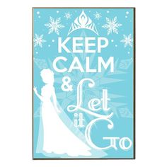 Disney Frozen Crowned Keep Calm and Let it Go Wood Wall Art - Silver Buffalo - Frozen - Artwork at Entertainment Earth