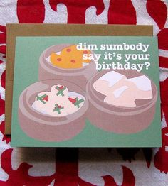 Dim Sum Birthday Card Pack | Gifts Cards & Stationery | La Familia Green | Scoutmob Shoppe | Product Detail