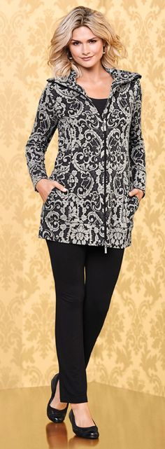 Divine Terry Double Zip Hoodie Wallpaper Dove. Double Jersey Knit at Cuffs and hem. My Soma Wish List Sweeps