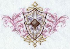 Baroque Shield Crest
