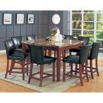 Coaster Furniture - Marble-Like 5 Piece Dining Set - 120310-4077BLK-5set  SPECIAL PRICE: $604.99