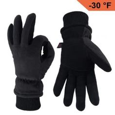 OZERO Work Gloves Coldproof Thermal Winter Glove – Deerskin Leather Palm & Polar Fleece Back with Insulated Cotton – Windproof Water-resistant Warm hands in Cold Weather for Women Men – Denim(M) Best Winter Gloves, Best Gloves, Deerskin Gloves, Insulated Gloves, Bluetooth, Mens Outdoor Clothing, Cold Weather Gloves, Driving Gloves, Work Gloves