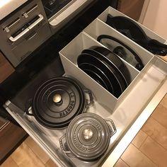 Kitchen/無印良品/ファイルボックス/ストウブ/キッチン収納/断捨離中のインテリア実例 - 2016-11-01 23:55:30