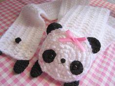Kawaii Panda scarf! by ♥ KawaiiCloud ♥, via Flickr