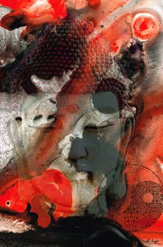 """""""Learn to love without condition.  Talk without bad intention.  Give without any reason.  And most of all, care for people without any expectation.""""  Universal Qi - Zen Black And Red Art by Sharon Cummings."""