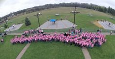 """The Pius X High School Trap Club sponsored a Cancer Awareness Day in conjunction with their conference Trap Shoot.  A local business donated """"Shoot for a Cure"""" shirts for the shooters and donations were collected and given to the American Cancer Society for Cancer Research."""