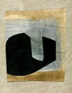 Ben Nicholson OM, '78 (16 strings)' 1978 watercolour oil paint graphite and ink