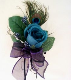 Stylized Peacock Wedding idea that I can make into corsages brooches hair clips or combs It is great for Mothers Guests even brides maids at your wedding And as a
