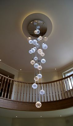 Glass Chandeliers - 'Crizzle' Range
