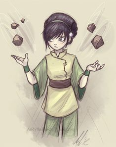 Day 4: my favorite female character is obviously TOPH! TOPH is awesome, nice, funny, and knows how to get herself out of any sticky situation.