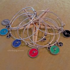 $24.95 Mermaid Bangle Bracelets Made in USA - Blue Pelican Gallery Gifts and Yarn, Cape Hatteras, OBX, NC