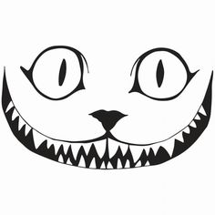 Free Printable Cheshire Cat Smile from PrintableTreats.com