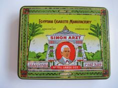 Excited to share the latest addition to my #etsy shop: Simon Arzt No 70L Large size Egyptian Cigarette tin (20/empty) by Egyptian cigarette Manufactory http://etsy.me/2o7eXCC #vintage #collectables #cigarettetin #tobaccocollectibles