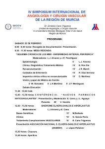 IV Simposio Internacional de Angiología y Cirugía Vascular
