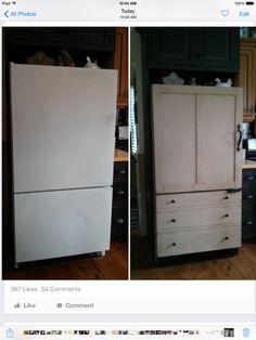 Refrigerator makeover!