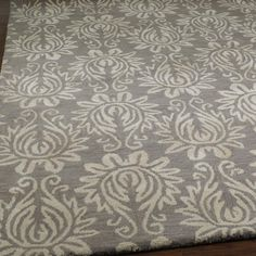 Damask Dreams Hand Tufted Rug 2 Colors From shades of light