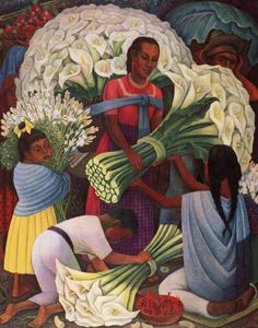 an analysis of the significance painting the portrait flower vendor by rivera Flower festival, 1925 by diego rivera art deco genre painting los angeles county museum of art (lacma), los angeles, ca, us.