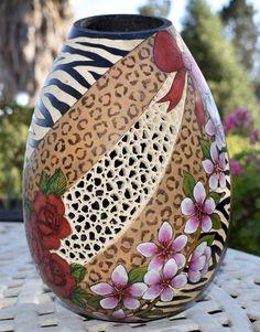 """Wild Treasure"" Gourd Vase by Christy Barajas"