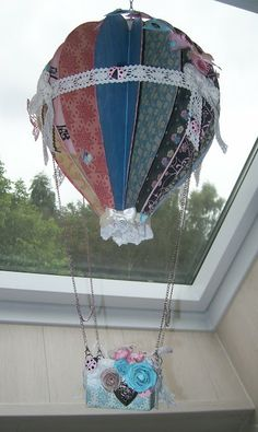 hot air balloon paper craft project