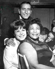 Tony Bennett, Eydie Gorme and Ella Fitzgerald.If Ella Fitzgerald married Darth…
