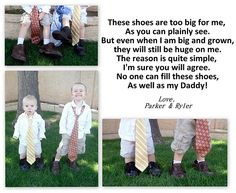 cute idea with daddy's shoes and ties!  {Craftify It}: Favorites for Fathers!!!