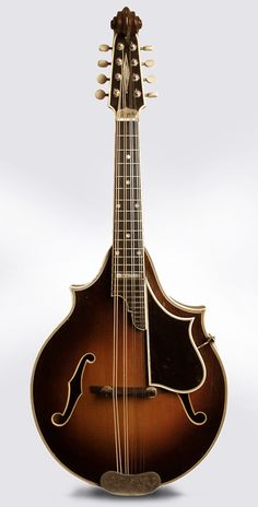 """D'Angelico, """"Scroll"""" Headstock Carved Top Mandolin"""