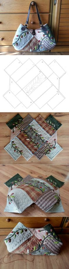 Quilt Bag tutorial. Bag patchwork-quilt ~ HandMadiya.com | сумки