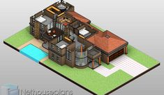 4 Bedroom House Plans in South Africa | Home Designs | NethouseplansNethouseplans