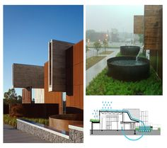 Scuppers in Action | Ross Barney Architects | University of Minnesota Duluth, Swenson Civil Engineering Building