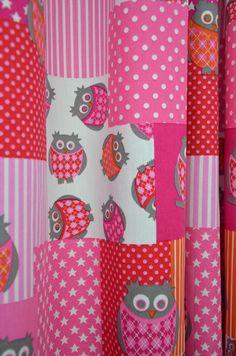 Gordijnstof 2080 (St. Owl Cube roze)