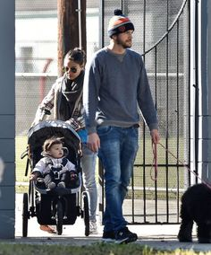 Ashton Kutcher And Mila Kunis with Baby Wyatt Out And About In New Orleans.