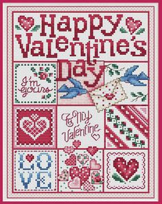 Valentine cross-stitch