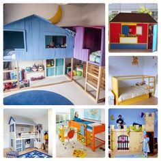 9 ideas to personalize the Ikea Kura bed Kura Ikea, Ikea Bunk Bed, Kura Hack, Ikea Furniture Hacks, Kids Furniture, Ideas Decorar Habitacion, Baby Room Design, House Beds, Little Girl Rooms