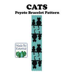 Cats - Peyote Stitch Bracelet Pattern from MadeByKatarina by DaWanda.com