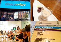 Chococrepe There is both savory and sweet here and they use high quality Valrhona chocolate. In fact the hot chocolate is made from real melted chocolate.