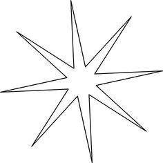 Une étoile à 8 branches fines