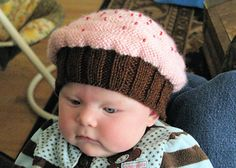Babies in cupcakes! Love this cute little hat for babies...